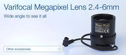 Varifocal Megapixel Lens 2.4-6mm - Wide angle to see it all