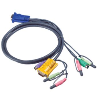 CABLE KVM 2L-5302P - VGA/PS2/AUDIO VERS SPHD 1.8M