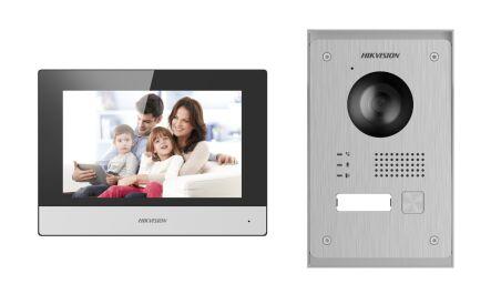 DS-KIS703-P KIT PORTIER IP VIDEO 2 FILS 2MP AVEC TABLETTE 7'