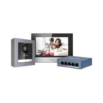 DS-KIS602 KIT PORTIER IP / TABLETTE / SWITCH / CARTE SD