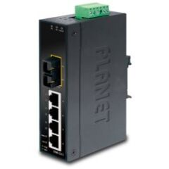 SWITCH INDUS IP30 4 PORTS 10/100Mb 1FO SC -10/+60°