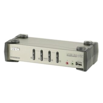 SWITCH KVM DESKTOP 4 PORTS USB + AUDIO