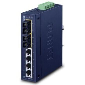 SWITCH INDUS IP30 4 10/100MB + 2 FO SC -40/+75°C