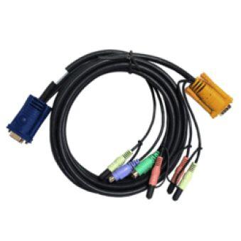 Câble KVM 2L-5303P - VGA/PS2/AUDIO vers SPHD 3m