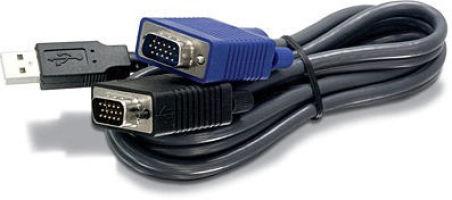 TRENDnet TK-CU10 - Cable pour KVM USB 3m male/male