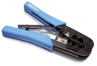 Pince à câbler RJ11/RJ 12/RJ45 - TC-CT68 - Bleu