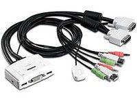 TRENDnet TK-214i - Câbles KVM 2 ports USB - DVI + Audio