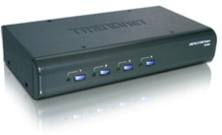 TRENDnet TK-423K - KVM 4 ports VGA - USB & PS/2 + Audio + ca