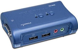TRENDnet TK-209K - KVM 2 ports VGA - USB + Audio + 2 cables