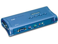 TRENDnet TK-408K - KVM 4 Ports VGA - PS/2 + Audio + cables ¬