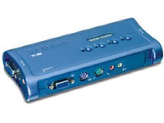 TRENDnet TK-408K - KVM 4 Ports VGA - PS/2 + Audio + cables ¬