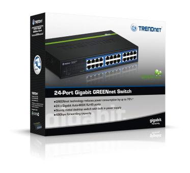 Switch 24 port Gigabit compact - TEG-S24DG - Noir