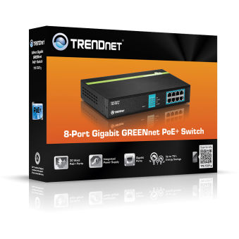 Switch 8 ports PoE+ Gigabit - TPE-TG81G - Noir