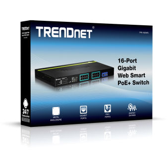 Switch Web Smart 16 ports PoE+ - TPE-1620WS - Noir