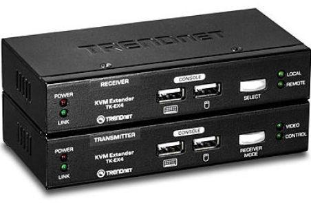 TK-EX4 - Noir Kit d'extension KVM VGA/USB