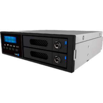 """Système RAID interne 5""""1/4 2 baies 2""""1/2 SATA LCD"""